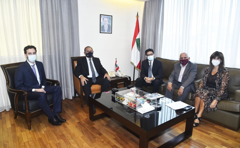 Minister Imad Heballah meets a Delegation from IFC