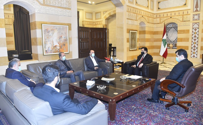 Pr Minister Hassan Diab meets a Delegation from Hamas Party