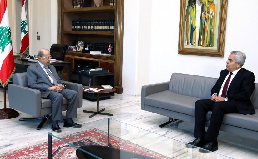 President Michel Aoun Meets MP Hekmat Dib
