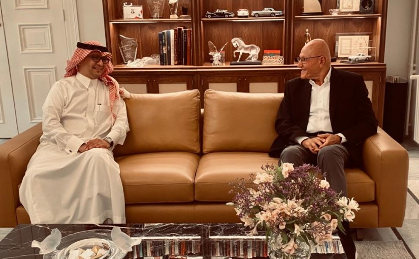 Former Pr Minister Tammam Salam meets Saudi Ambassador