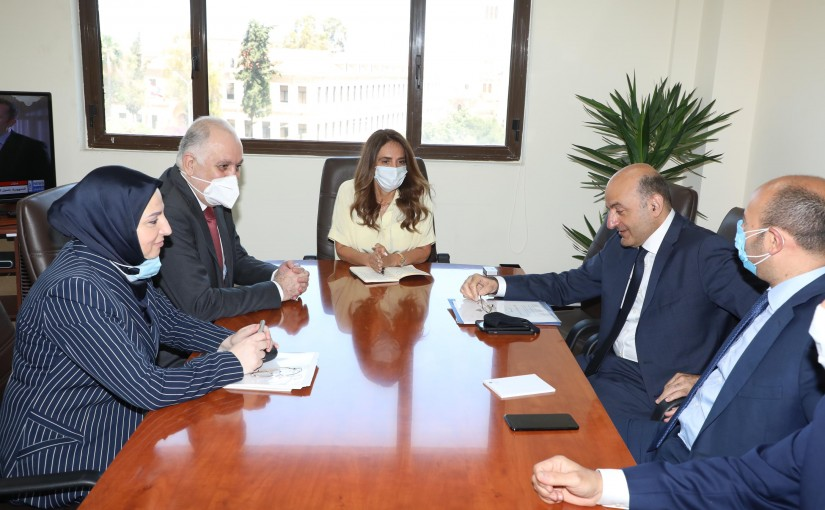 Minister Zeina Akkar meets Minister Mouhamad Fehmi with a Delegation
