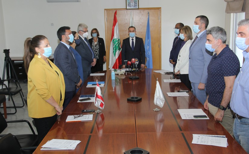 Minister Abass Mourtada meets a Delegation from UNITED NATION