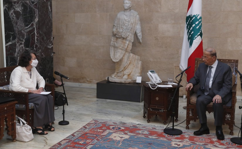President Michel Aoun Meets Italian Deputy Minister of Foreign Affairs Marina Sereni