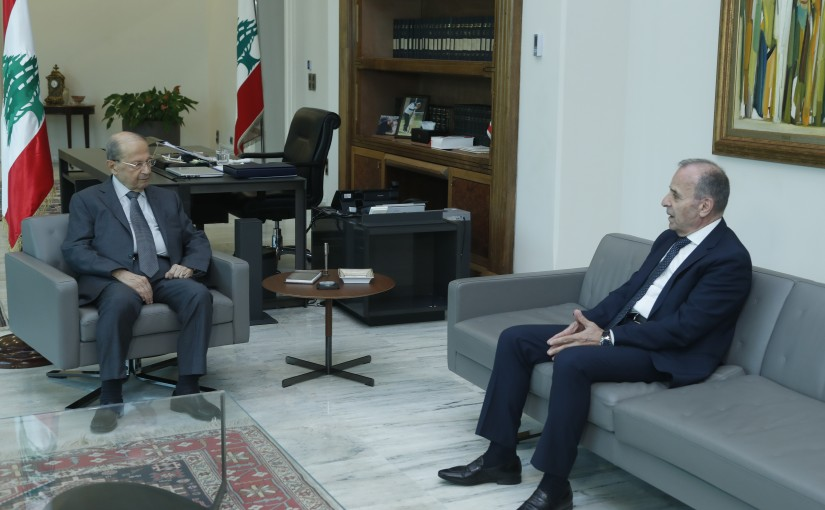 President Michel Aoun Meets Head of The Constitutional Council Judge Tannous Mechleb