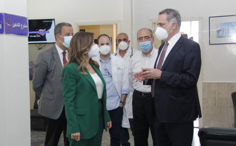 Tours for Minister Lamya Yamine at Batroun Hospital