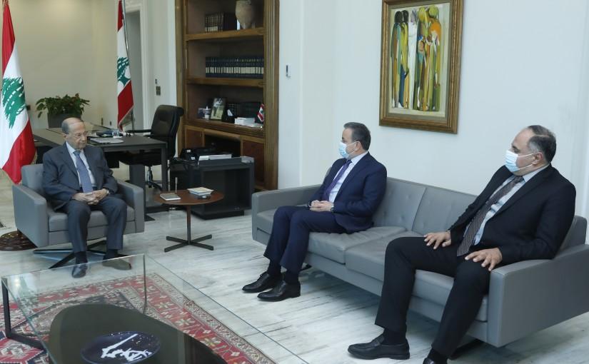 President Michel Aoun Meets MP Asaad Dergham & Mr Nicolas Chedraoui