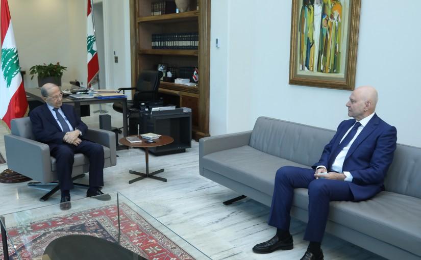 President Michel Aoun Meets MP Antoine Pano