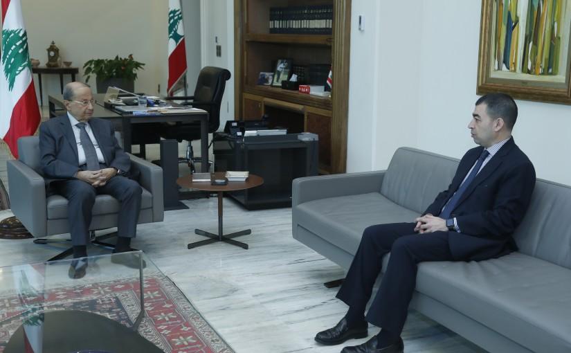 President Michel Aoun Meets MP Cezar Abi Khalil