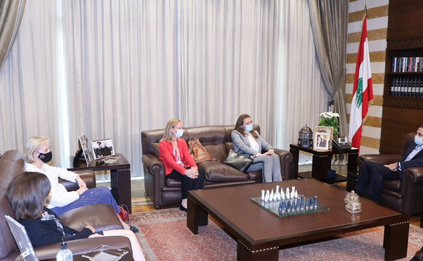 Pr Minister Saad Hariri meets Canadian & Denmark & Sweden Ambassadors