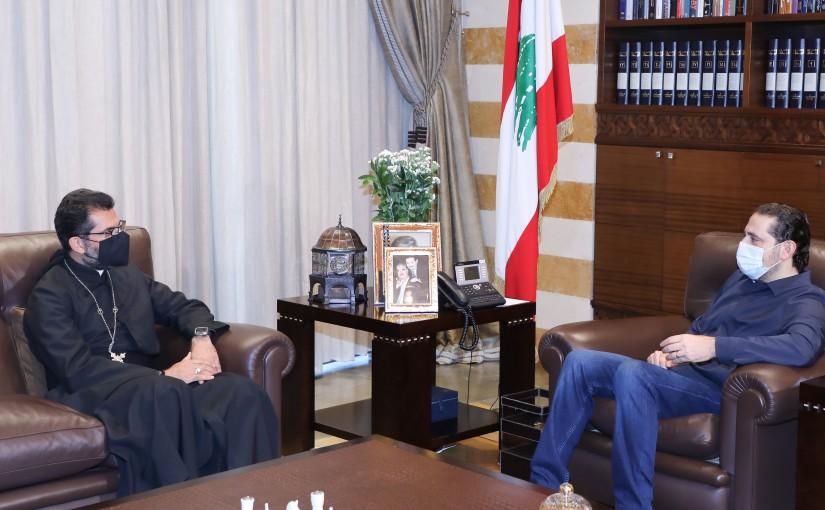 Pr Minister Saad Hariri meets Bishop Antoine Najem
