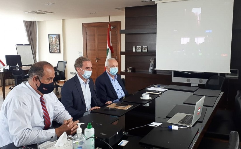 Minister Imad Heballah meets a Delegation from Lebanese Cement Factory