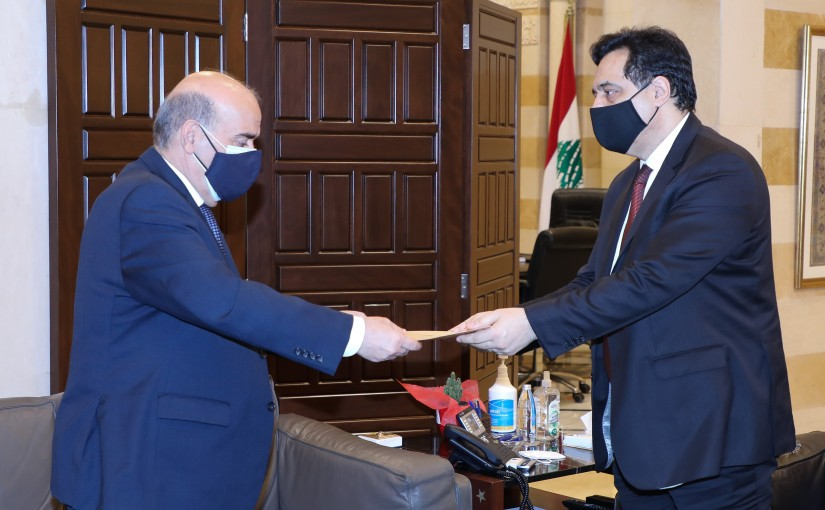 Pr Minister Hassan Diab meets Minister Charbel Wehbeh