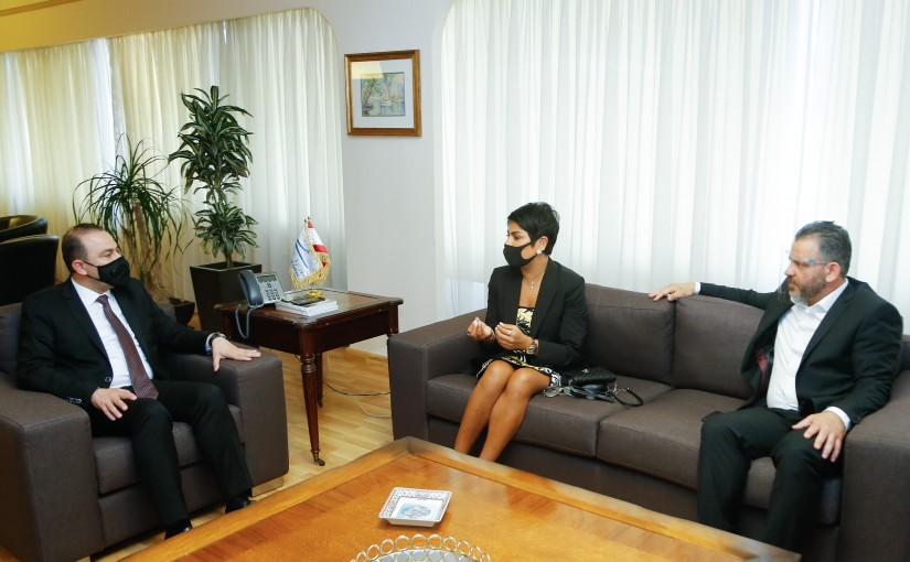 Minister Hassan Hamad meets a Delegation from Lebanese Association