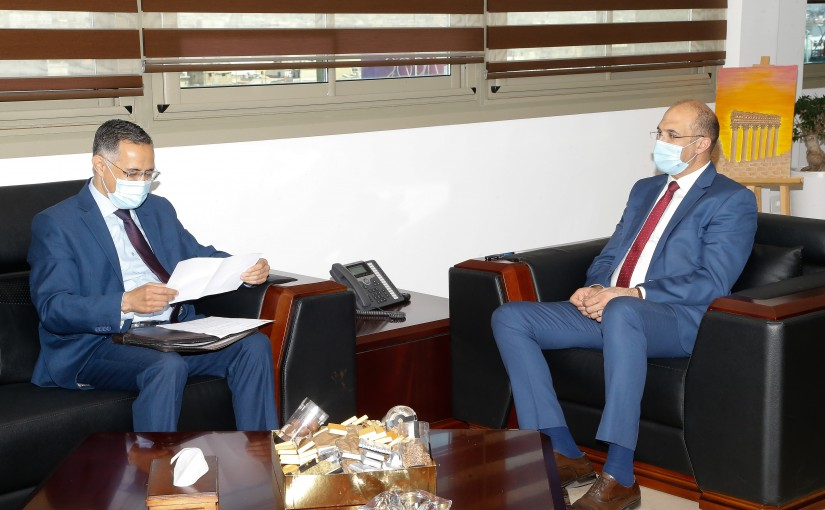 Minister Hassan Hamad meets a Delegation from Hospital directors
