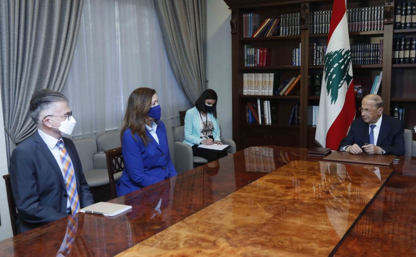President Michel Aoun Meets US Ambassador Dorothy Shea