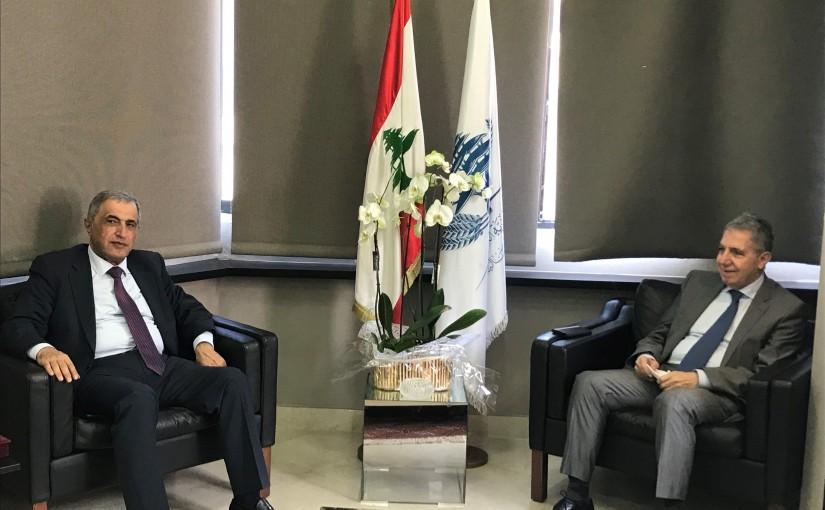 Minister Ghazi Wazni meets MP Kassem Hashem