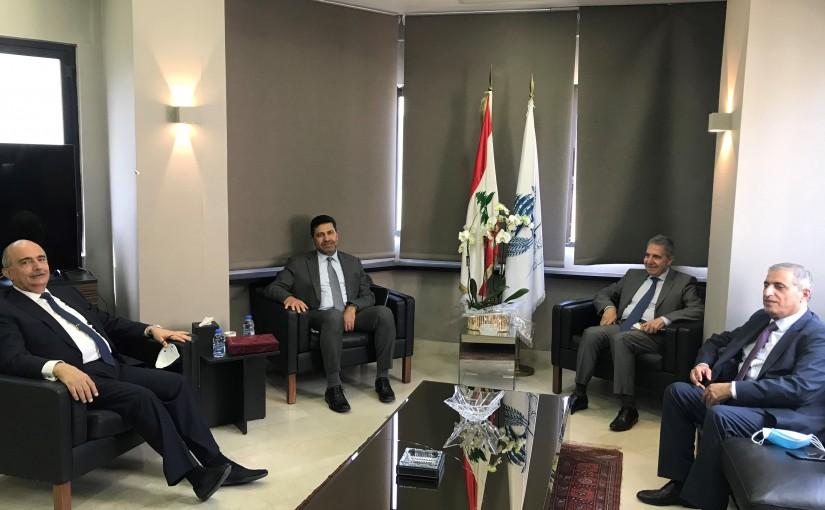 Minister Ghazi Wazni meets Minister Raymond Ghajar