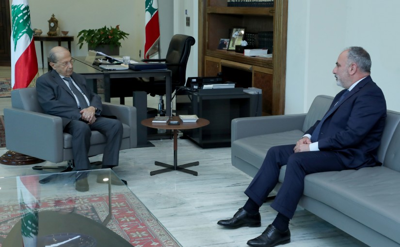 President Michel Aoun meets MP Ziad Asswad