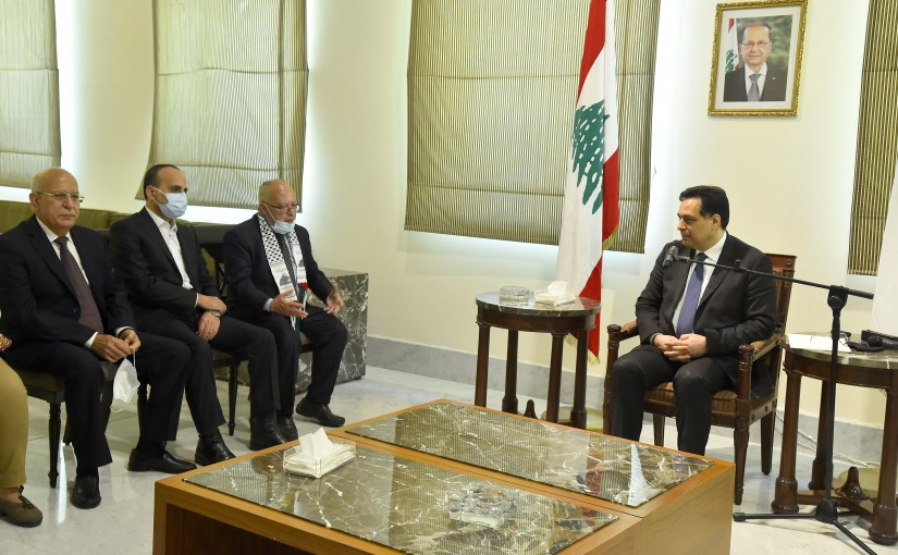 Pr Minister Hassan Diab meets a Delegation from Arab Parties