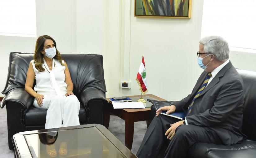 Minister Zeina Akkar meets Mexican Ambassador