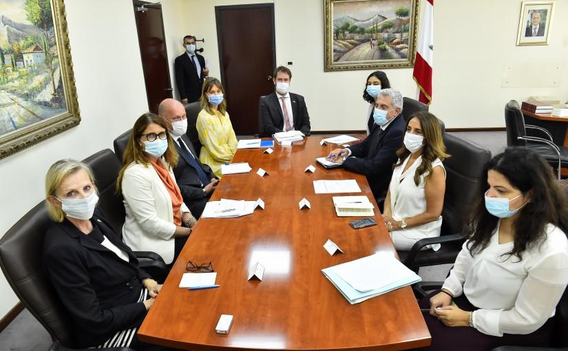 Minister Zeina Akkar meets a Swiss Delegation
