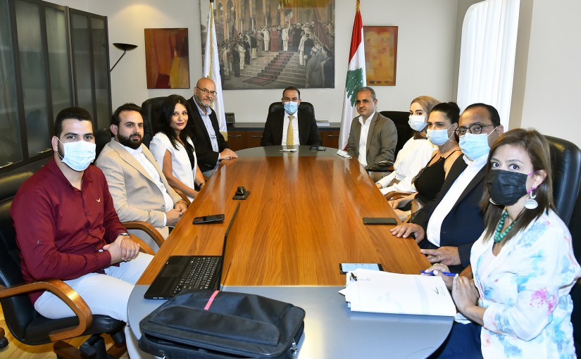 Minister Abass Mourtada meets a Delegation from Tyr