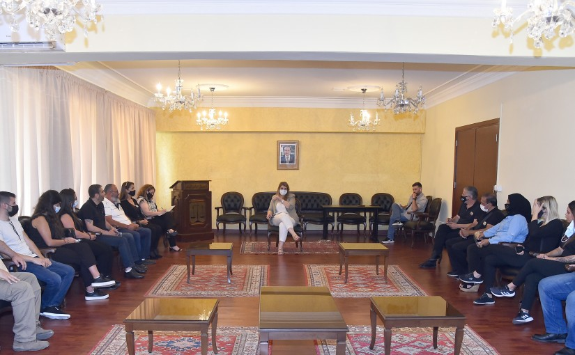 Minister Marie Claude Najem meets a Delegation from the Families of the Port Martyrs
