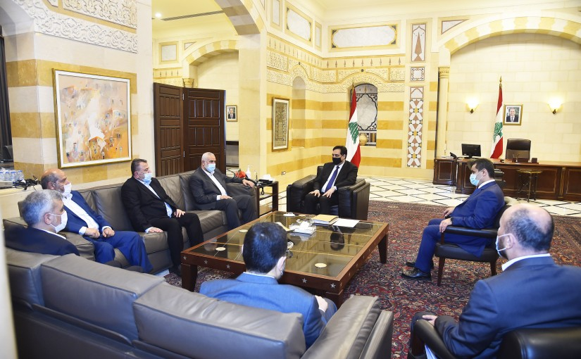 Pr Minister Hassan Diab meets Head of Hamas Ismail Haniyeh