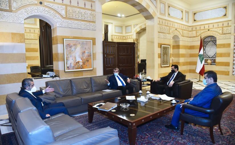 Pr Minister Hassan Diab meets MP Elie Ferezli
