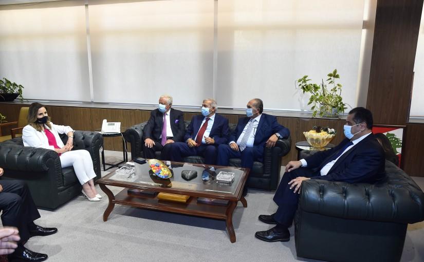 Minister Manal Abdel Samad meets a Saudi Delegation