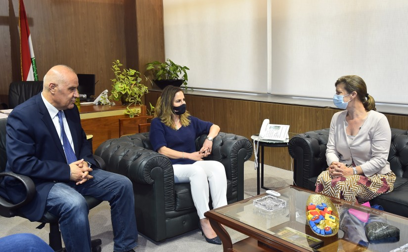 Minister Manal Abdel Samad meets French Delegation