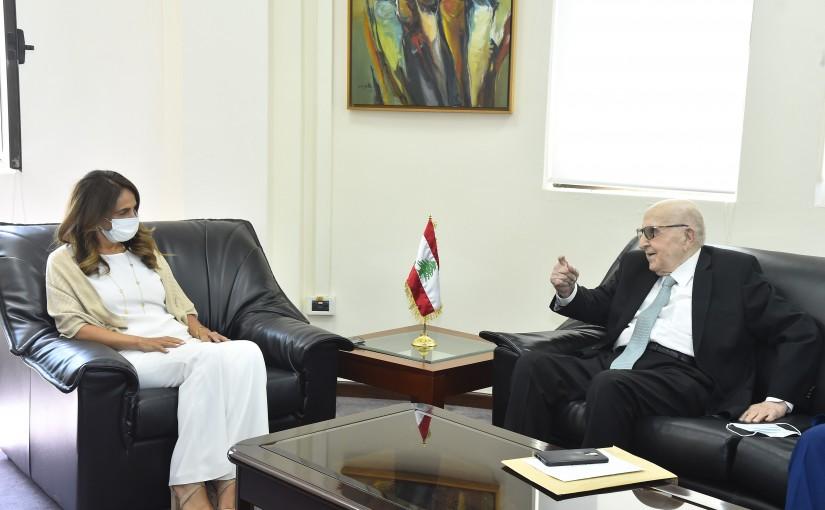 Minister Zeina Akkar meets Ambassador Abdel Rahman el Soleh