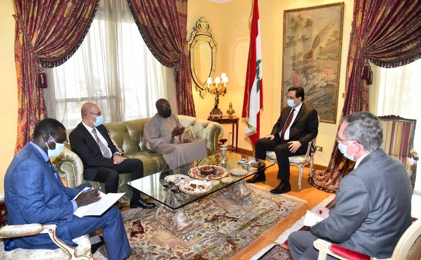 Pr Minister Hassan Diab meets Senegal Ambassador