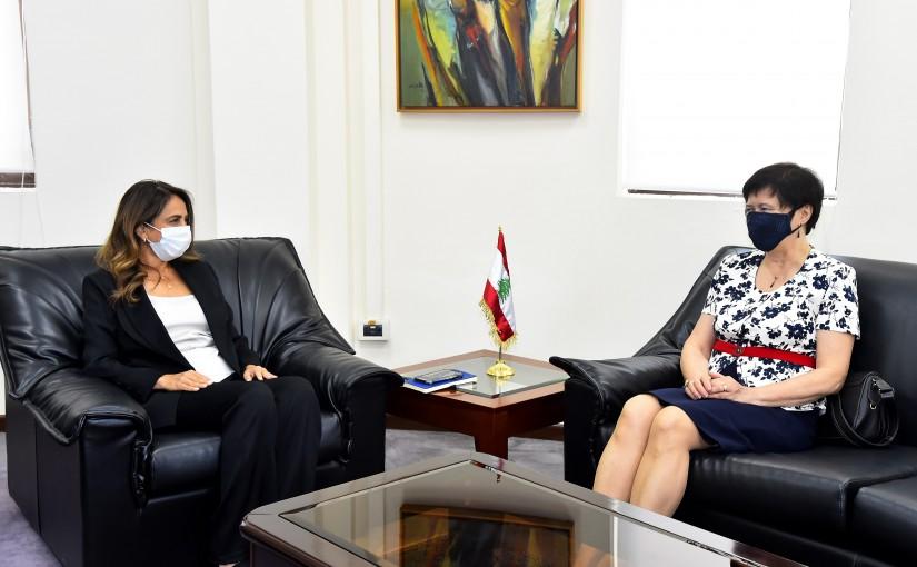 Minister Zeina Akkar meets Mrs Yona Fronteska