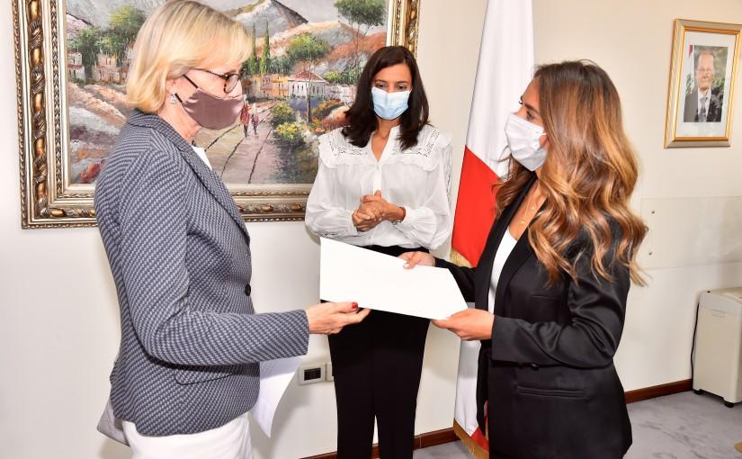 Minister Zeina Akkar meets Swedish Ambassador