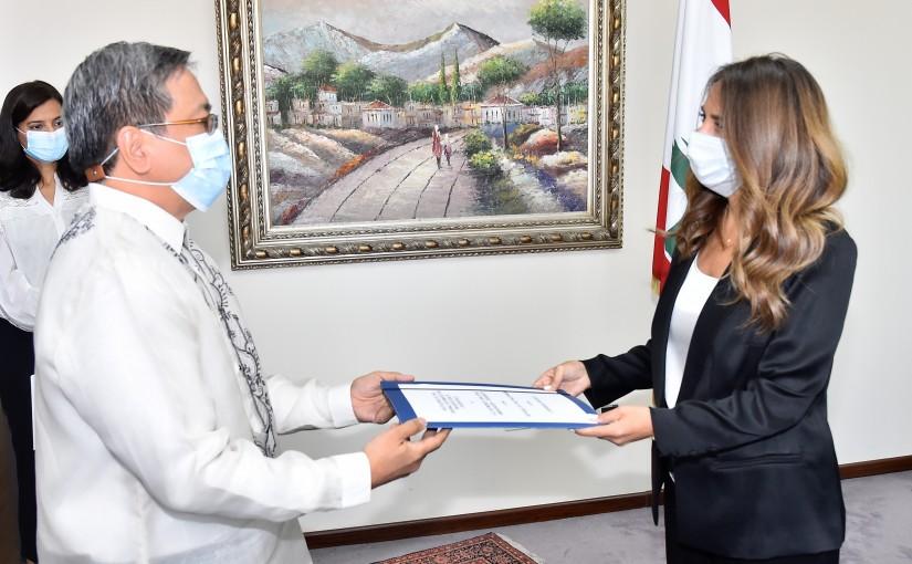 Minister Zeina Akkar meets Philippines Ambassador