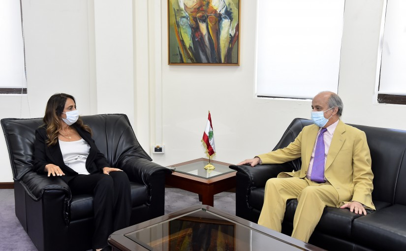 Minister Zeina Akkar meets Spanish Ambassador