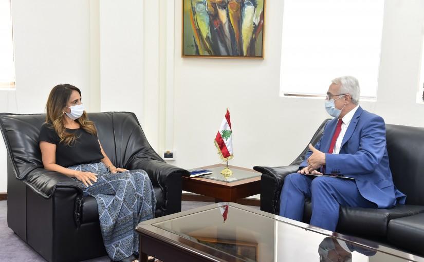 Minister Zeina Akkar meets Hungarian Ambassador