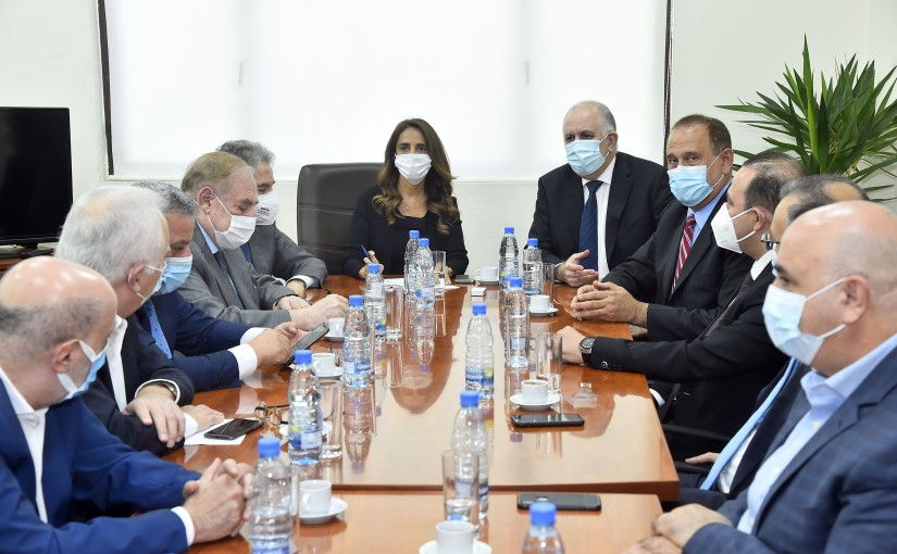 Minister Zeina Akkar meets Minister Mouhamad Fehmi with Delegation