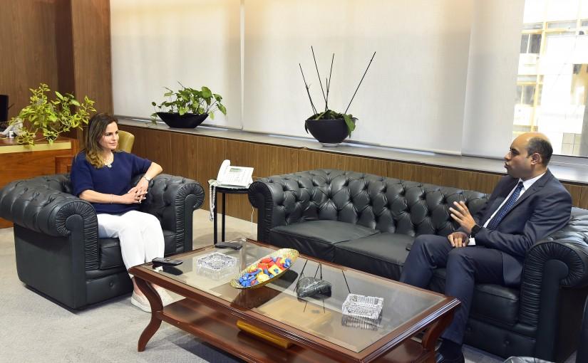 Minister Manal Abdel Samad meets Mr Ahmad Hassan