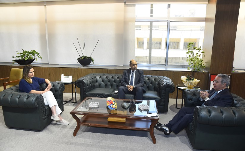 Minister Manal Abdel Samad meets Minister Ramzi Moucharafieh and Mr Ahmad Hassan
