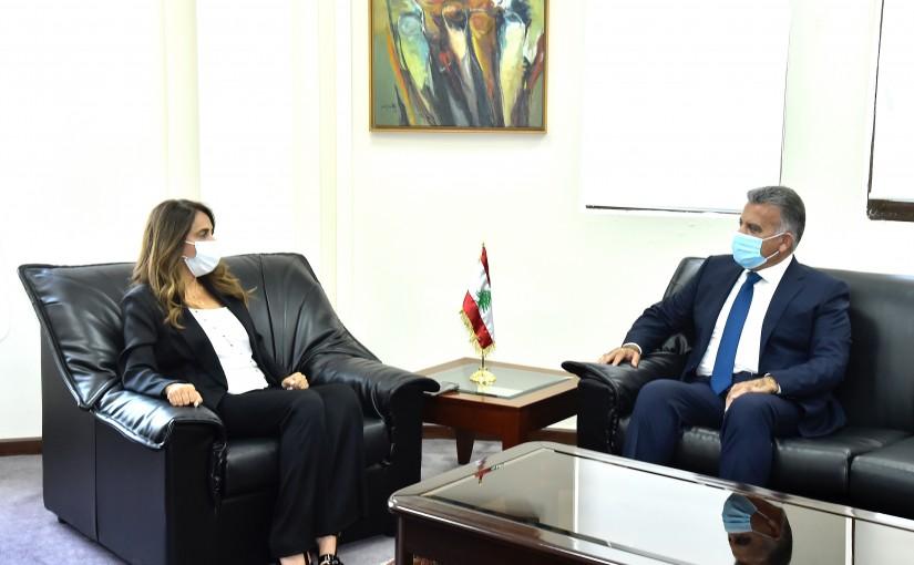 Minister Zeina Akkar meets General Abass Ibrahim