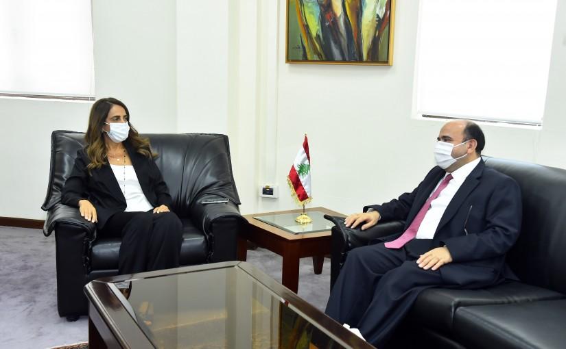 Minister Zeina Akkar meets Jordanian Ambassador