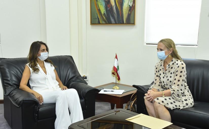 Minister Zeina Akkar meets Canadian Ambassador