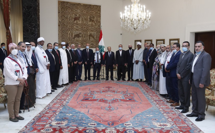 President Michel Aoun Meets a Delegation From Arabs Parties & Societies