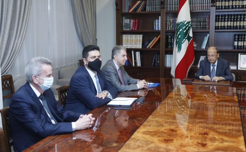 President Michel Aoun Heading an Economical Meeting