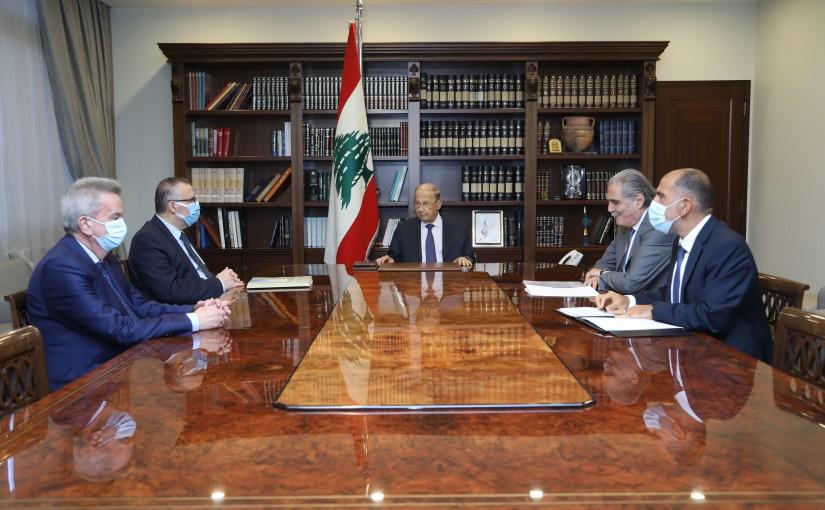President Michel Aoun Heading a Judicial Financial Meeting