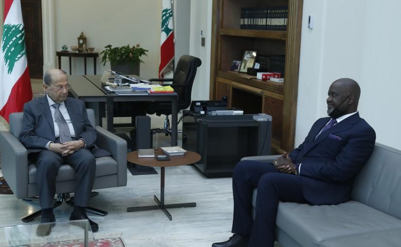 President Michel Aoun Meets Ghana Ambassador