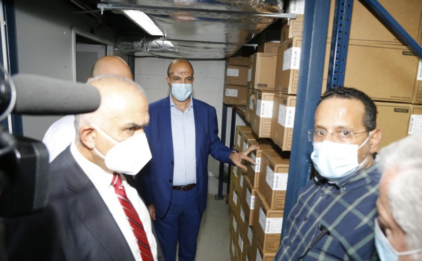 Minister Hassan Hamad Visits a DrugStore in Hamra