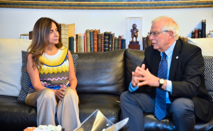 Minister Zeina Akkar meets High Representative of the European Union For Foreign Affairs and Security Policy Mr Joseph Borell Fontelles